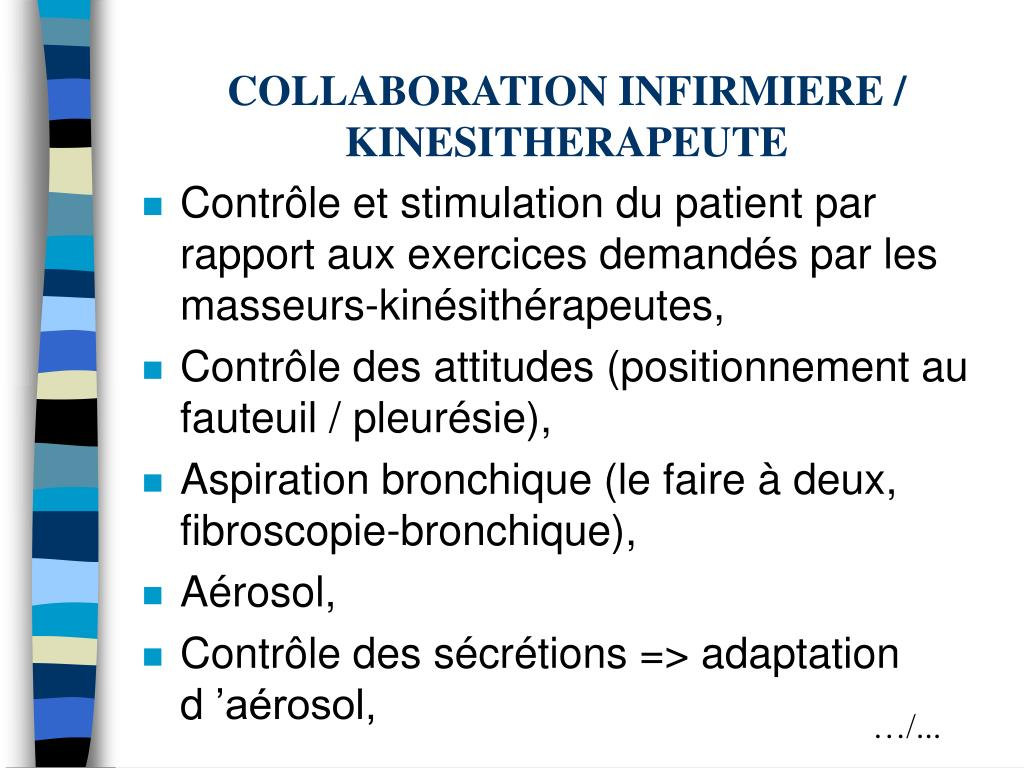 COLLABORATION INFIRMIERE / KINESITHERAPEUTE