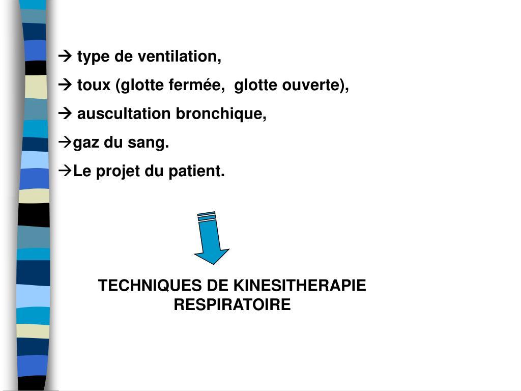  type de ventilation,