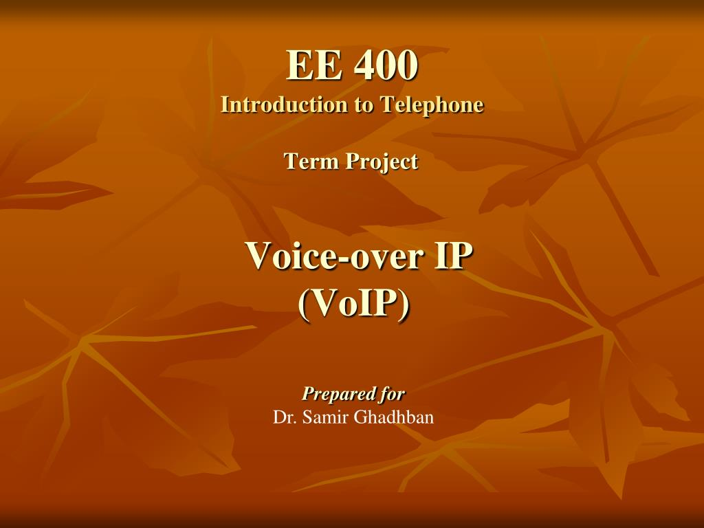 ee 400 introduction to telephone