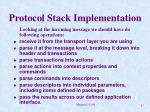 protocol stack implementation