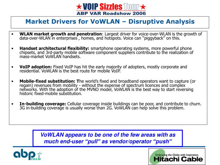 Market drivers for vowlan disruptive analysis