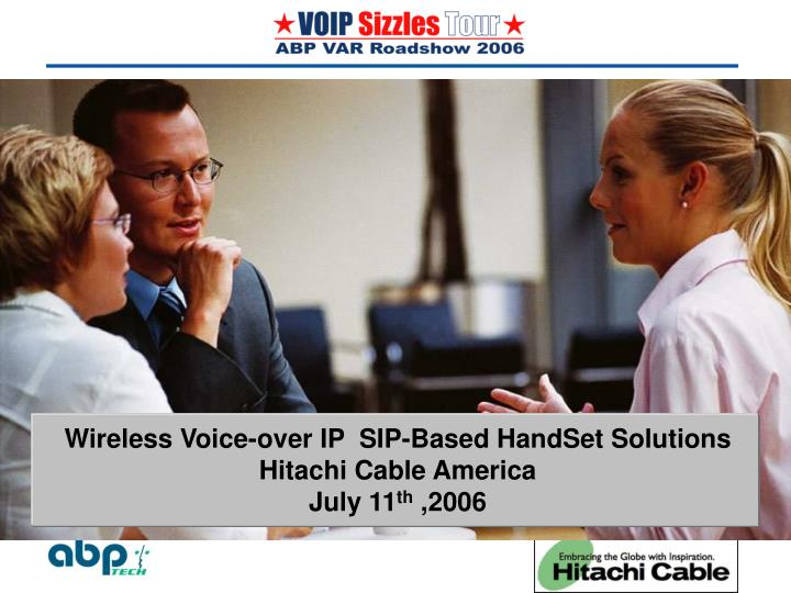 Wireless Voice-over IP  SIP-Based HandSet Solutions  Hitachi Cable America