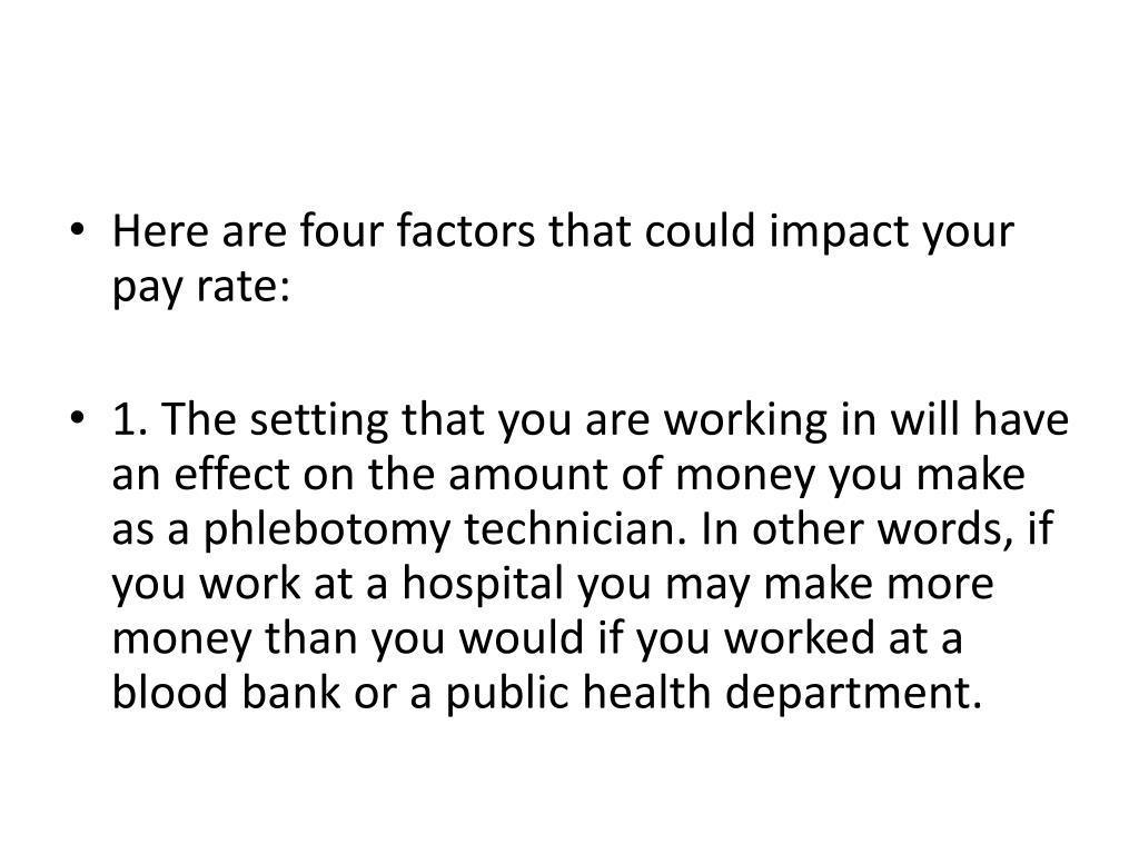Here are four factors that could impact your pay rate: