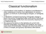 classical functionalism