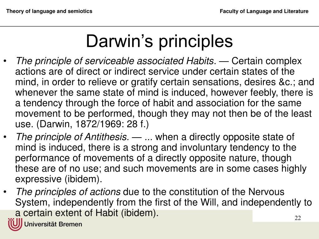 Darwin's principles