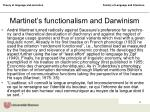 martinet s functionalism and darwinism