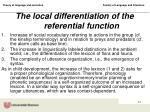 the local differentiation of the referential function