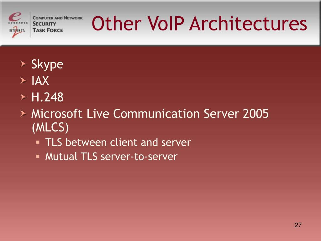 Other VoIP Architectures