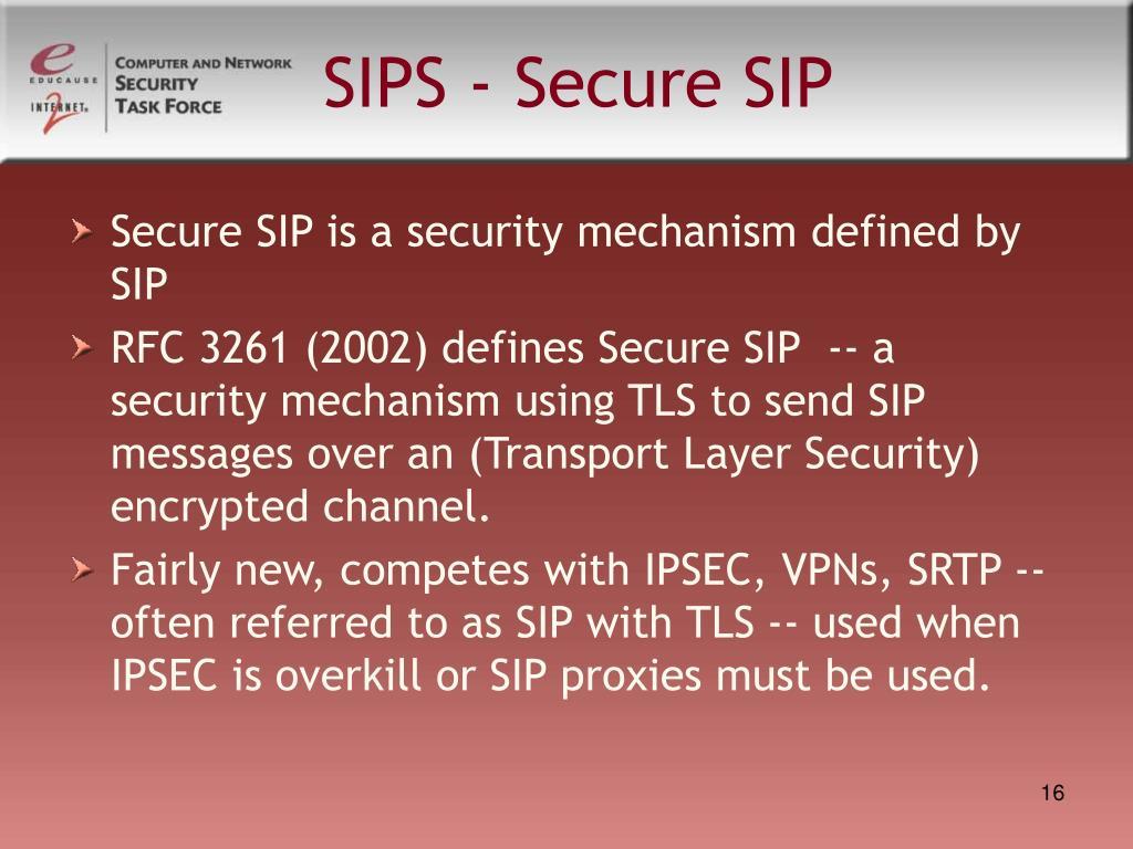 SIPS - Secure SIP