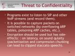 threat to confidentiality
