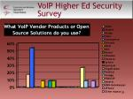 voip higher ed security survey55