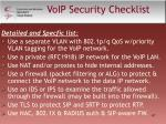 voip security checklist47