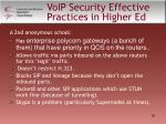voip security effective practices in higher ed50