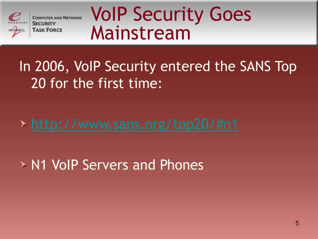 VoIP Security Goes Mainstream