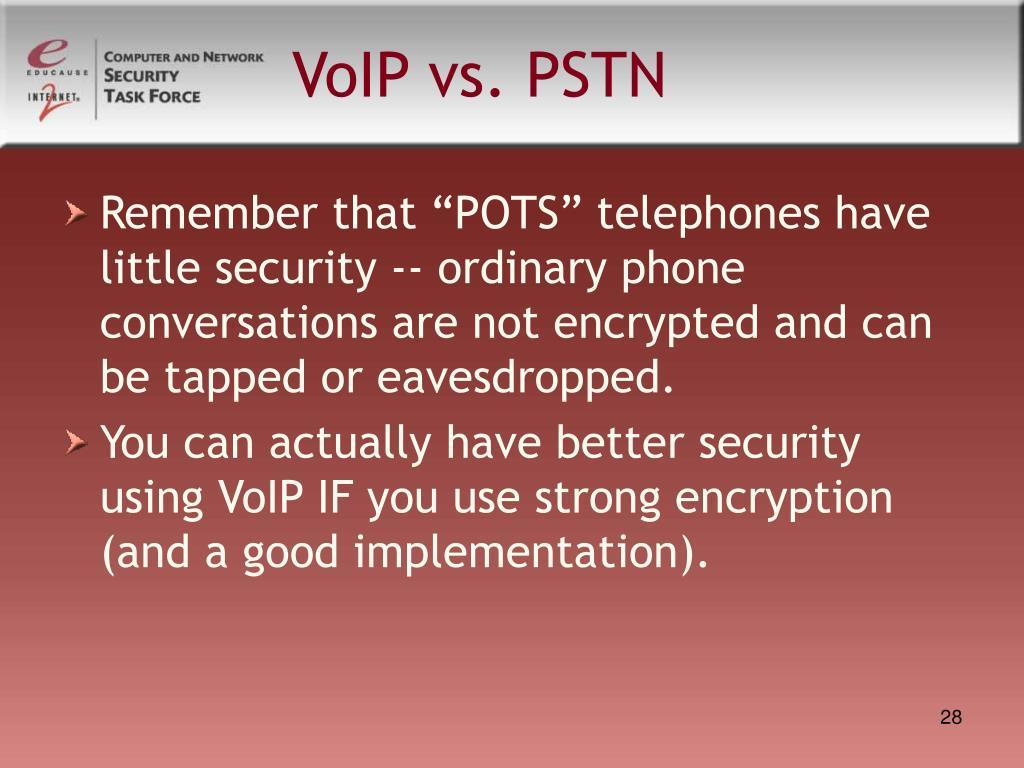 VoIP vs. PSTN