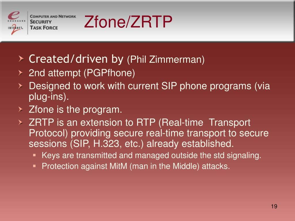 Zfone/ZRTP