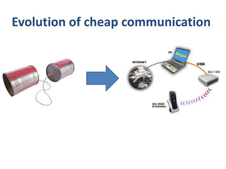 Evolution of cheap communication
