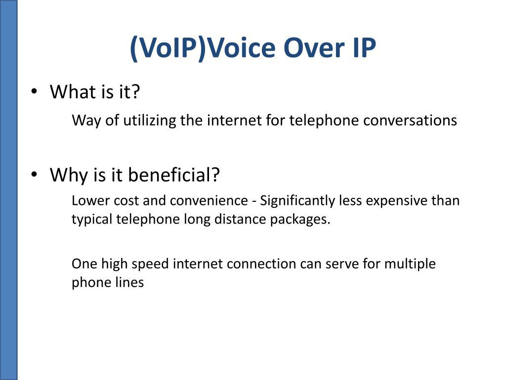 (VoIP)Voice Over IP