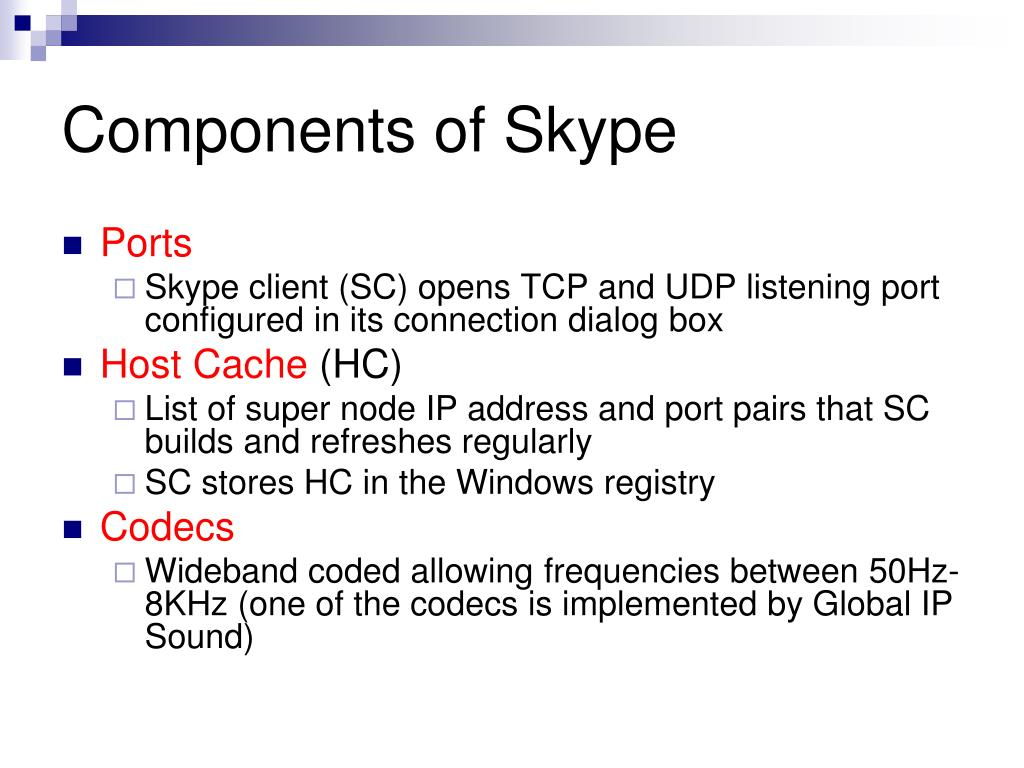 Components of Skype