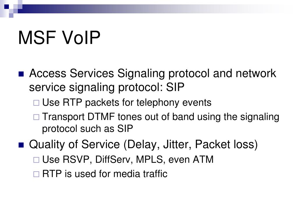 MSF VoIP