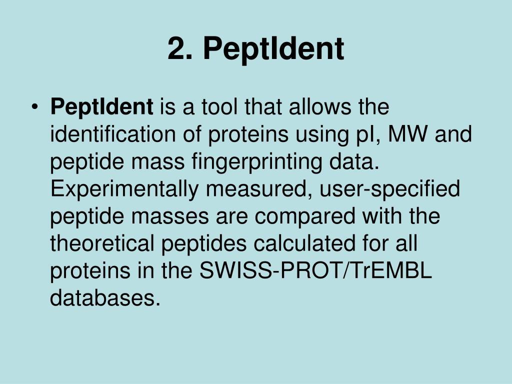 2. PeptIdent