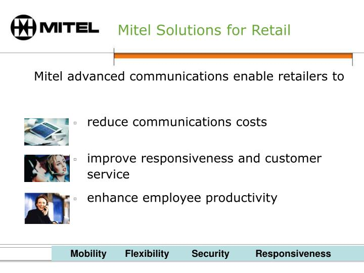 Mitel solutions for retail