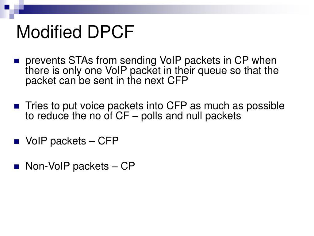 Modified DPCF