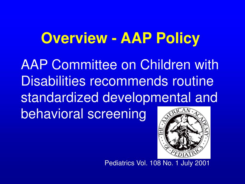 Overview - AAP Policy