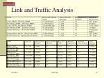 link and traffic analysis