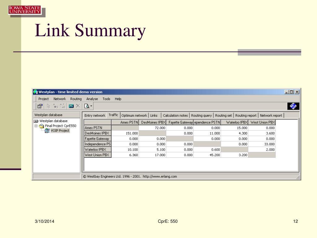 Link Summary