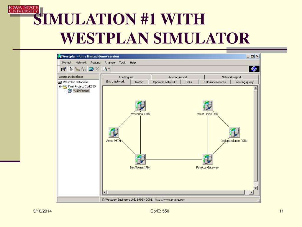 SIMULATION #1 WITH WESTPLAN SIMULATOR