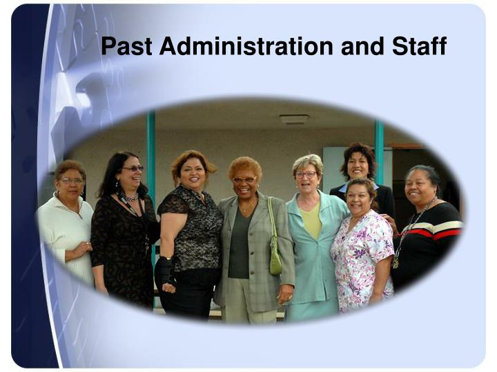 Past Administration and Staff