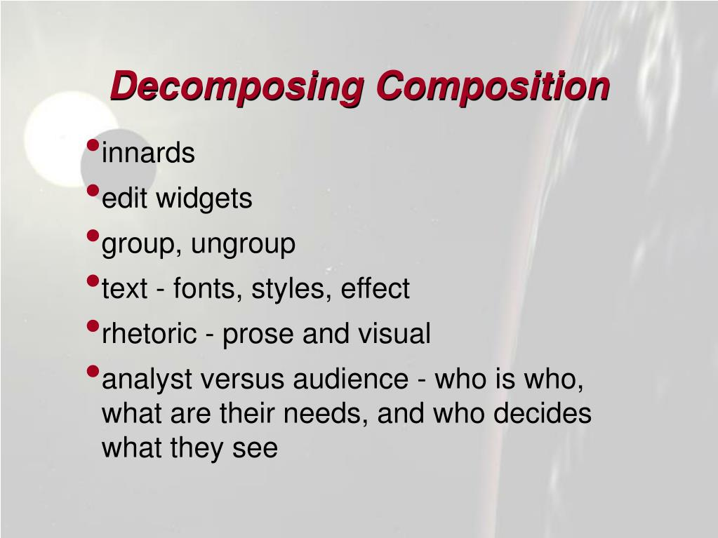 Decomposing Composition