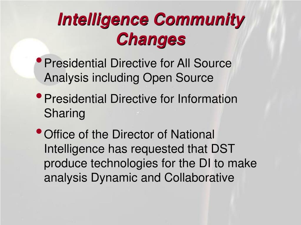Intelligence Community Changes