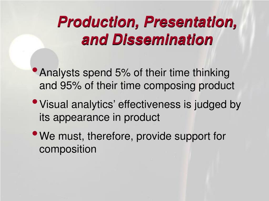 Production, Presentation,