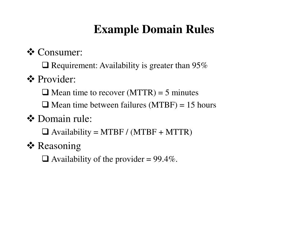 Example Domain Rules