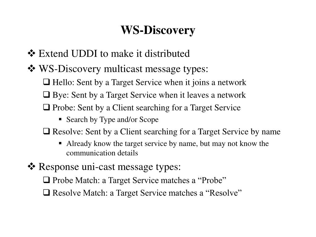 WS-Discovery