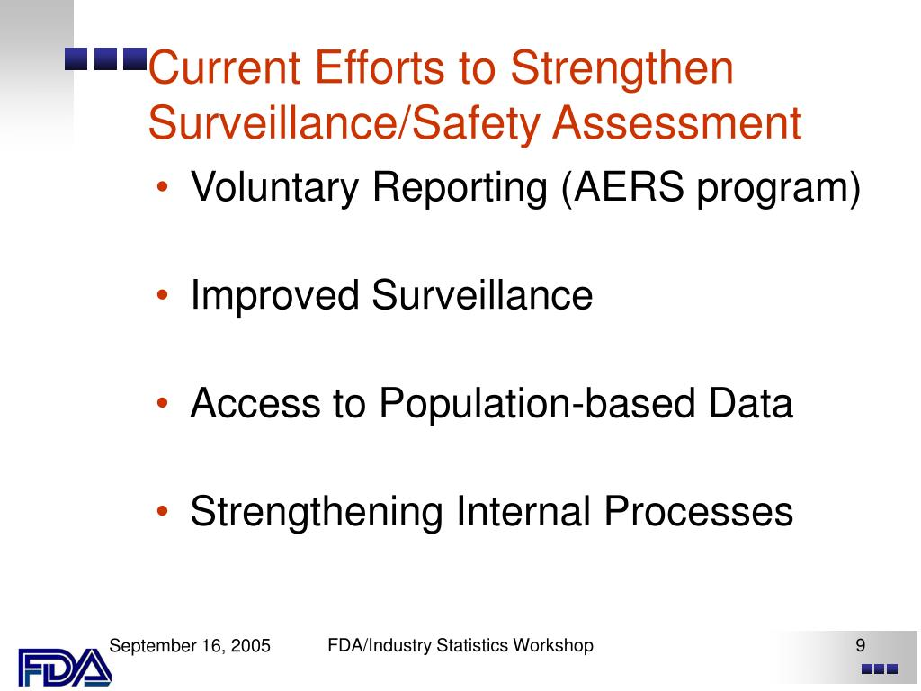 Current Efforts to Strengthen Surveillance/Safety Assessment