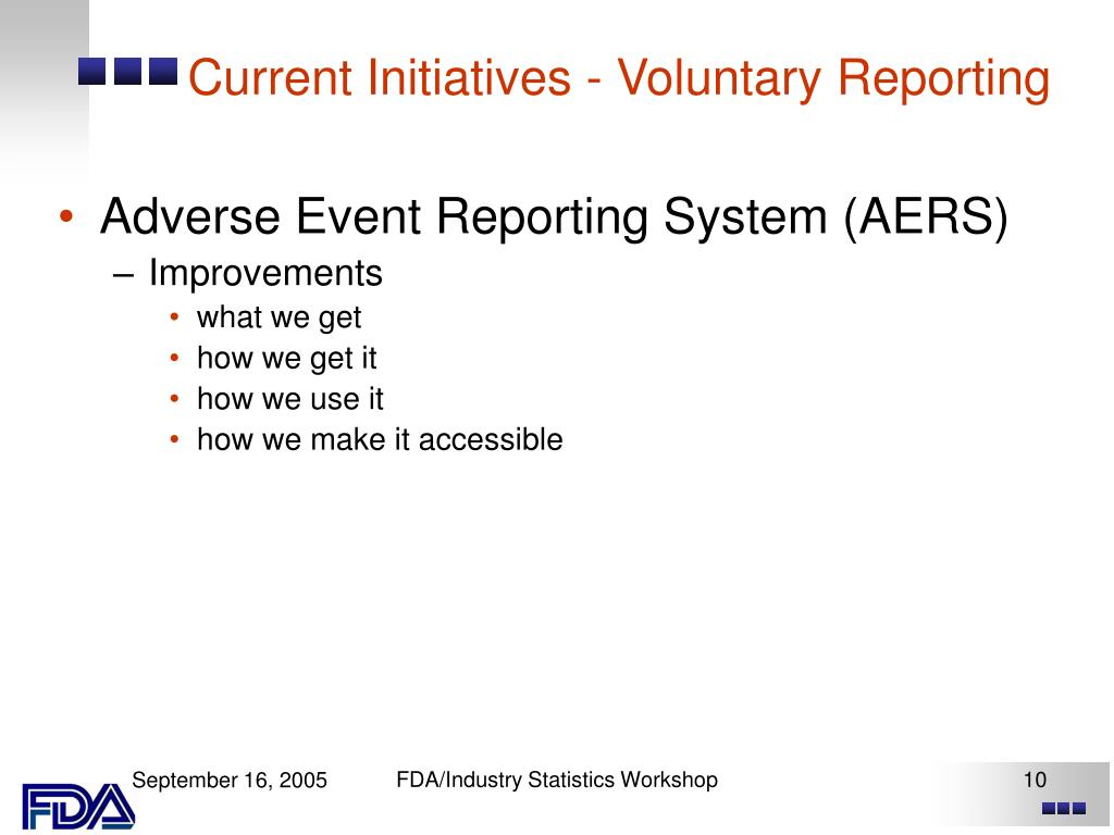 Current Initiatives - Voluntary Reporting