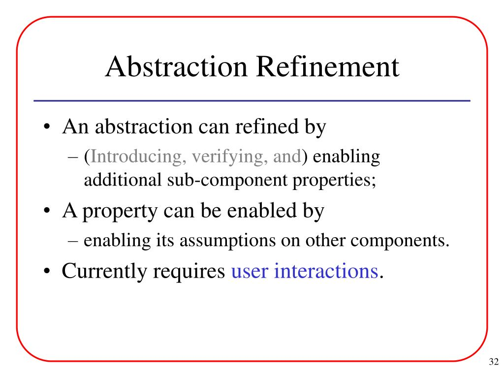 Abstraction Refinement