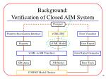 background verification of closed aim system