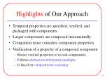 highlights of our approach
