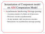 instantiation of component model on aim computation model