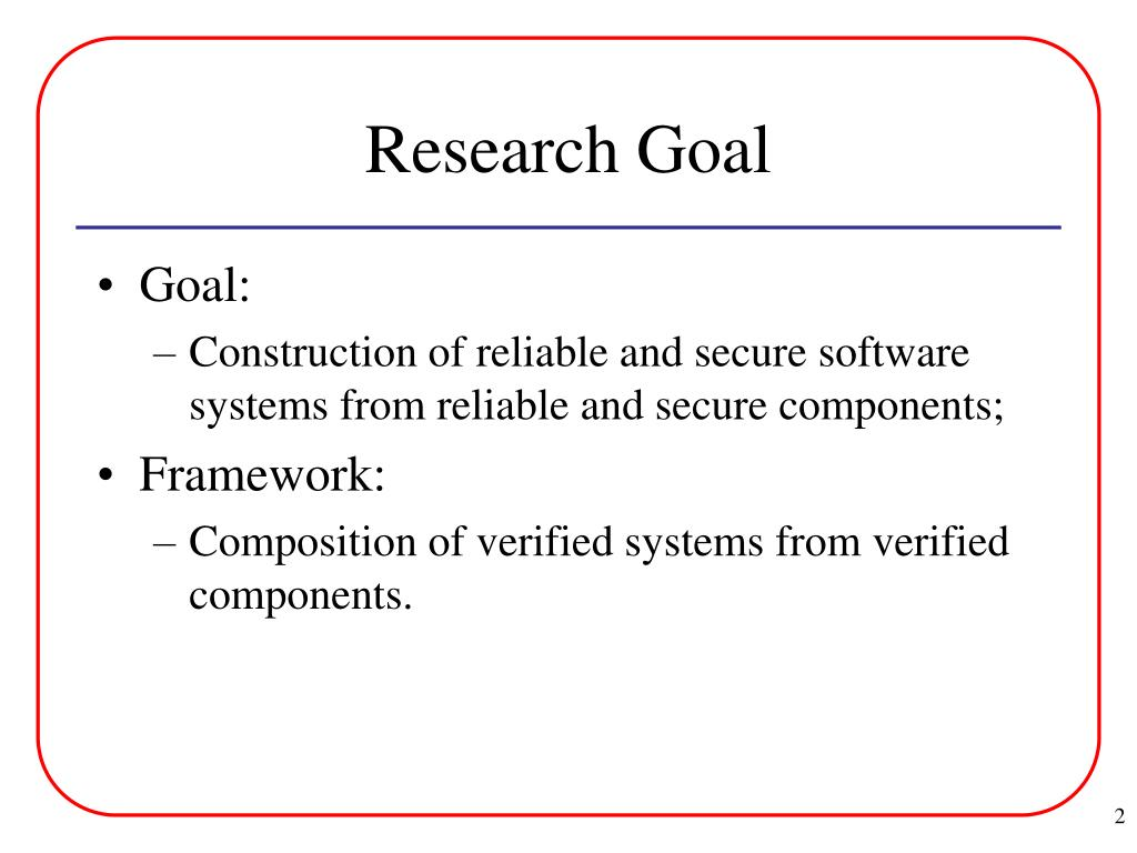 Research Goal