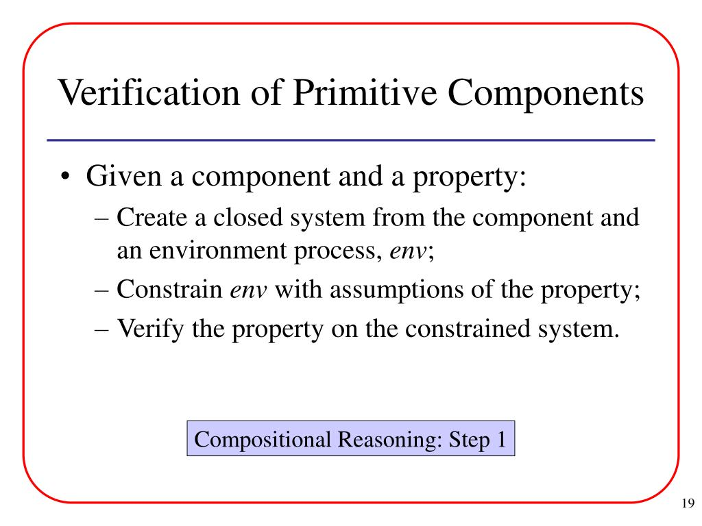 Verification of Primitive Components