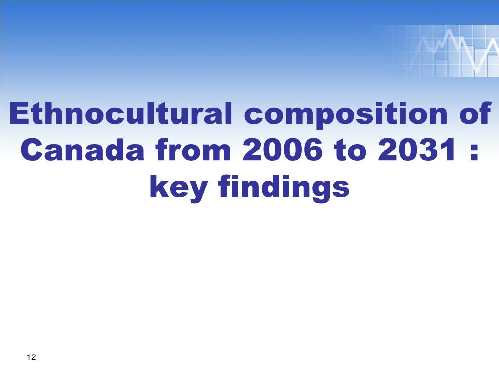 Ethnocultural composition of Canada from 2006 to 2031 : key findings