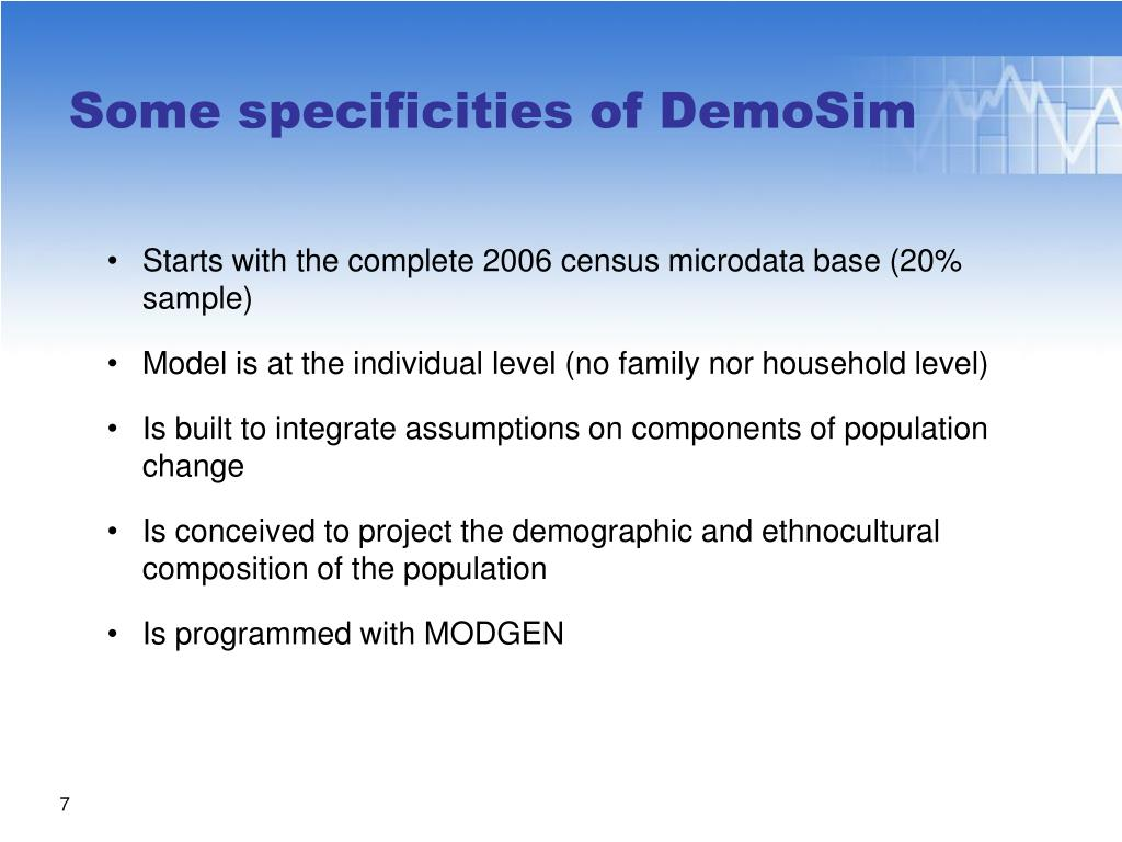 Starts with the complete 2006 census microdata base (20% sample)