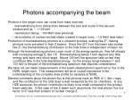 photons accompanying the beam