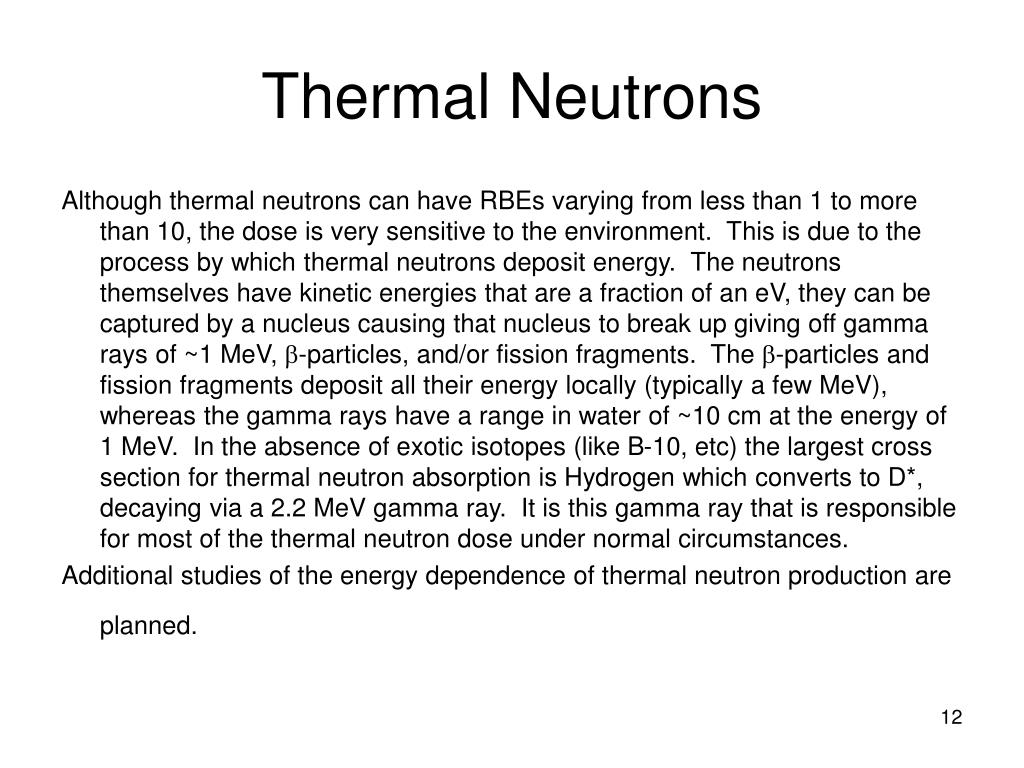 Thermal Neutrons