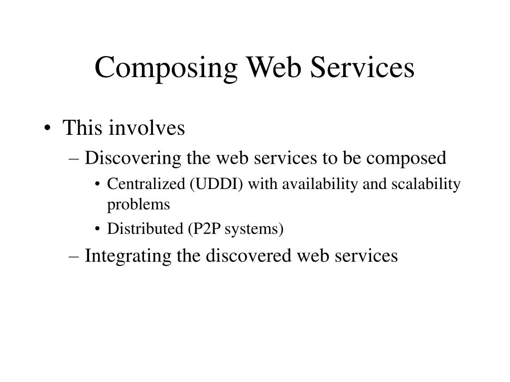 Composing Web Services